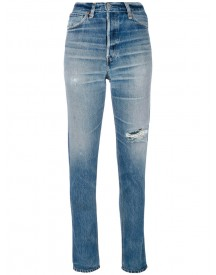 Re/done - Distressed Skinny Jeans - Women - Cotton - 28 afbeelding