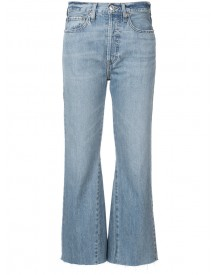 Re/done - Flared Cropped Jeans - Women - Cotton - 28 afbeelding