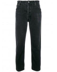 Re/done - High-rise Crop Straight Jeans - Women - Cotton - 28 afbeelding