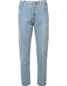 Re/done - High-rise Cropped 'destruction' Jeans - Women - Cotton - 28 afbeelding
