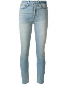 Re/done - High-rise Cropped Jeans - Women - Cotton/spandex/elastane - 26 afbeelding