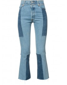 Re/done - Patchwork Cropped Jeans - Women - Cotton - 25 afbeelding