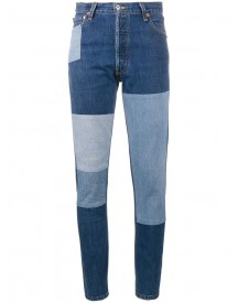 Re/done - Patchwork Slim-fit Jeans - Women - Cotton - 31 afbeelding