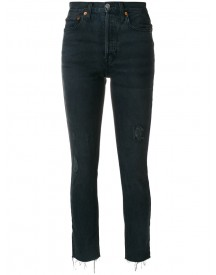 Re/done - Raw Hem Cropped Jeans - Women - Cotton - 28 afbeelding