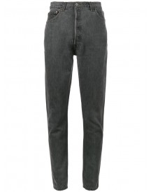 Re/done - Skinny Fit High Rise Jeans With Butt Rip - Women - Cotton - 29 afbeelding
