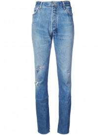 Re/done - Slim-fit High Waisted Jeans - Women - Cotton - 26 afbeelding