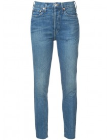 Re/done - Stonewashed Skinny Jeans - Women - Cotton/spandex/elastane - 26 afbeelding