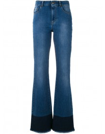 Red Valentino - Frayed Bootcut Jeans - Women - Cotton/polyester/spandex/elastane - 26 afbeelding