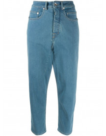 Rick Owens Drkshdw Cropped Jeans - Blauw afbeelding