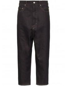 Rick Owens Drop Crotch Cropped Jeans - Blauw afbeelding