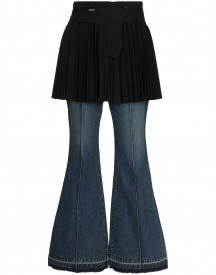 Sacai Apron Flared Jeans - Blauw afbeelding