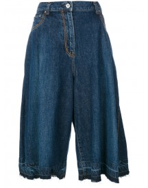 Sacai - Denim Pleated Culottes - Women - Cotton - 3 afbeelding