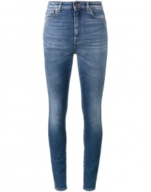 Saint Laurent - Blue High Waisted Skinny Jeans - Women - Cotton/spandex/elastane - 25 afbeelding