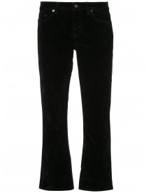 Saint Laurent Cropped Slim-fit Jeans - Zwart afbeelding