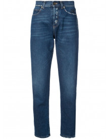 Saint Laurent Distressed Effect Tapered Jeans - Blauw afbeelding