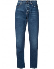 Saint Laurent - Distressed Effect Tapered Jeans - Women - Cotton - 27 afbeelding