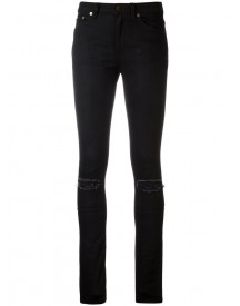 Saint Laurent - Distressed Skinny Jeans - Women - Cotton/leather/spandex/elastane - 28 afbeelding