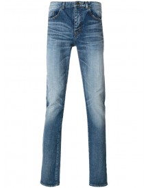 Saint Laurent - Light-wash Fitted Jeans - Men - Cotton - 30 afbeelding