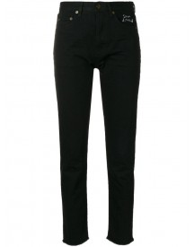 Saint Laurent - Raw Cropped Slim Fit Jeans - Women - Cotton/spandex/elastane - 26 afbeelding