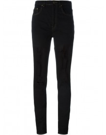 Saint Laurent - Ripped Skinny Jeans - Women - Cotton/spandex/elastane - 28 afbeelding