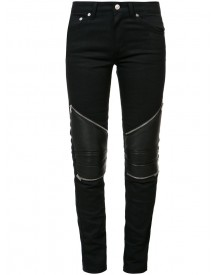 Saint Laurent - Skinny Biker Knee Jeans - Women - Cotton - 27 afbeelding