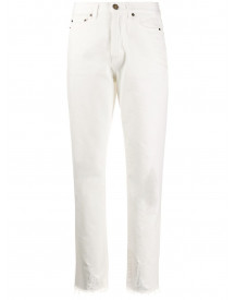 Saint Laurent Straight Jeans - Wit afbeelding