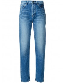 Saint Laurent - Tapered Slim Fit Jeans - Women - Cotton - 25 afbeelding