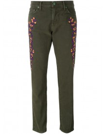 Sandrine Rose - Embroidered Cropped Jeans - Women - Cotton - 25 afbeelding