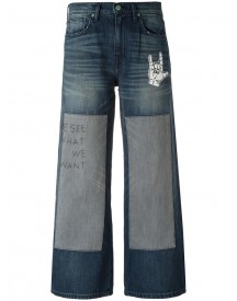 Sandrine Rose - Embroidered Patchwork Jeans - Women - Cotton - 25 afbeelding