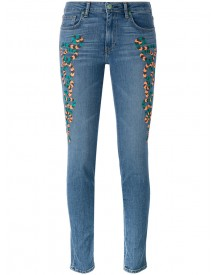 Sandrine Rose - Embroidered Skinny Jeans - Women - Cotton - 28 afbeelding