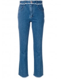See By Chloé - Frayed Trim Jeans - Women - Cotton/spandex/elastane - 31 afbeelding