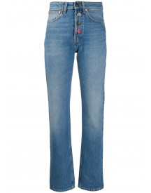 Semicouture Straight Jeans - Blauw afbeelding