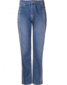 Serge De Blue - Two-tone Straight Leg Jeans - Women - Cotton - 36 afbeelding