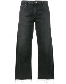 Simon Miller - Black Distressed Mid Rise Cropped Jeans - Women - Cotton - 26 afbeelding