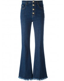 Sonia Rykiel - Frayed Ends Bootcut Jeans - Women - Cotton/spandex/elastane - 38 afbeelding
