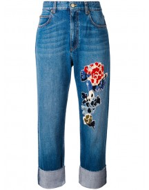 Sonia Rykiel - Sequin Embellished Jeans - Women - Cotton/polyamide/lyocell/pvc - 38 afbeelding