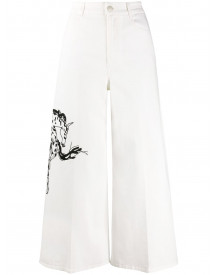 Stella Mccartney High Waist Jeans - Wit afbeelding