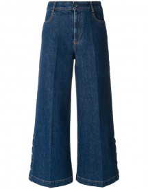 Stella Mccartney - Coulotte Flared Jeans - Women - Cotton/spandex/elastane - 28 afbeelding