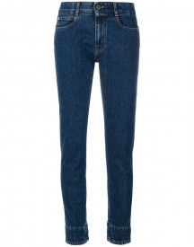 Stella Mccartney - Flower Printed Cuff Jeans - Women - Cotton/spandex/elastane - 29 afbeelding