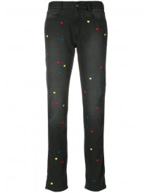 Stella Mccartney - Heart Embroidered Jeans - Women - Cotton/polyester/spandex/elastane - 27 afbeelding