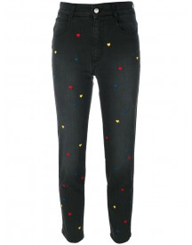 Stella Mccartney - Hearts Cropped Jeans - Women - Cotton/spandex/elastane - 26 afbeelding