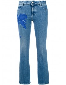Stella Mccartney - Palm Tree Kick Jeans - Women - Cotton/spandex/elastane - 25 afbeelding