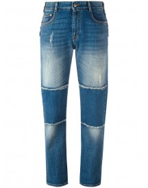 Stella Mccartney - Panelled Boyfriend Jeans - Women - Cotton/spandex/elastane - 26 afbeelding