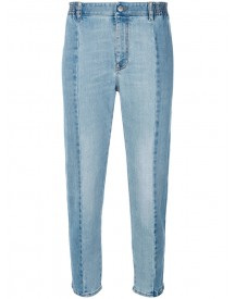 Stella Mccartney - Panelled Cropped Jeans - Women - Cotton/polyester/spandex/elastane - 26 afbeelding