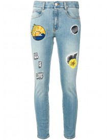 Stella Mccartney - Patch Skinny Jeans - Women - Cotton/polyester/spandex/elastane - 28 afbeelding
