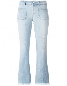 Stella Mccartney - Skinny Kick Embroidered Star Jeans - Women - Cotton/spandex/elastane - 26 afbeelding