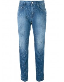 Stella Mccartney - Star Accent Straight-fit Jeans - Women - Cotton/polyester/spandex/elastane - 25 afbeelding