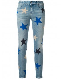 Stella Mccartney - Star Print Cropped Jeans - Women - Cotton/spandex/elastane - 28 afbeelding