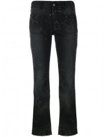 Stella Mccartney - Star Stitched Crop Flare Jeans - Women - Cotton/spandex/elastane - 26 afbeelding
