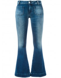 The Seafarer - Cropped Flared Jeans - Women - Cotton/polyester/spandex/elastane - 28 afbeelding